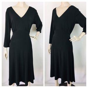 Van Huesen Women's Black Stretch Midi Dress